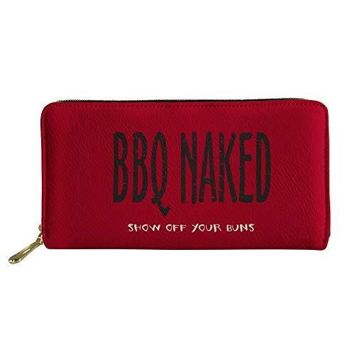 Chao Coole Stil Dame Hält Eine Tasche Voller Druck Kreative Brief Brieftasche Persönlichkeit Muster 1. Platz -