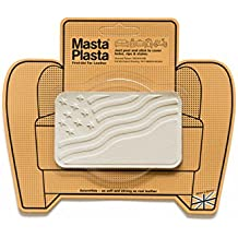 Ivory MastaPlasta Self-Adhesive Leather Repair Patches. Choose size/design. First-aid for sofas, car seats, handbags, jackets etc (IVORY FLAG 10cmx6cm)