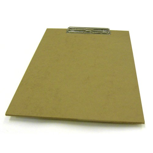 DIN A4 Klemmbrett aus MDF / Metall - ideal als Schreibunterlage / Zeichenunterlage