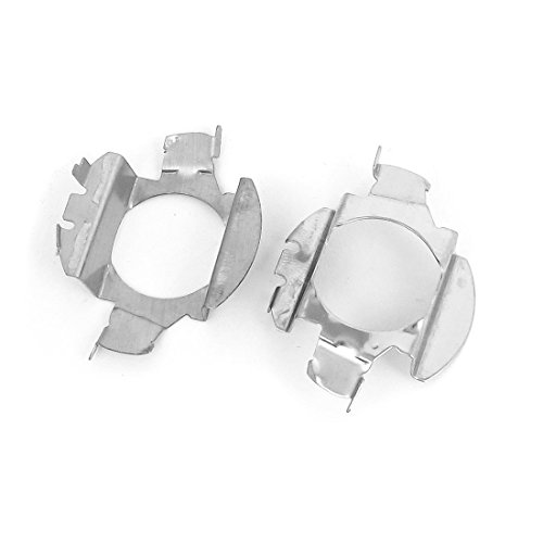 Sourcingmap® 2 Stück Glühbirne H7 Xenon HID-Halterung, Adapter, Metall DE de