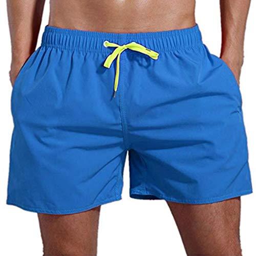 MONDHAUS Herren Shorts Sports Badehose für Männer Beachshorts Sommer Schwimmhose Groß Größe Badehosen Trocknen Schnell Strandhosen,Blau,S -