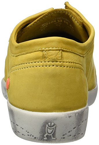 Softinos Damen Isla Washed Sneaker Gelb (Yellow)
