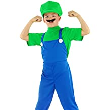Folat - Disfraz infantil de Luigi (talla M), color verde