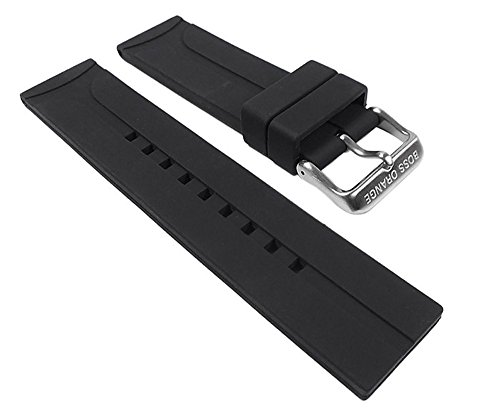 Hugo Boss Uhrenarmband Silikon Band schwarz 22mm für 1512664