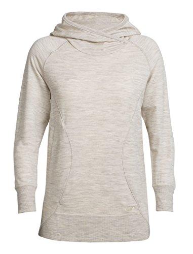 Icebreaker Damen Dia Hoody Pullover, Fawn Hthr, L (Kleid Merino-pullover)