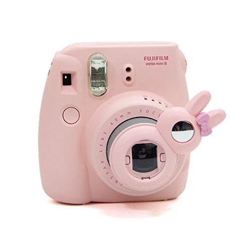 [Fujifilm Instax Mini Close up Lens Set de filtres]-CAIUL pour Appareils Photo de Fujifilm Instax Mini 8 8+ 7s et Polaroid 300(Collection de Lapin)-Rosa
