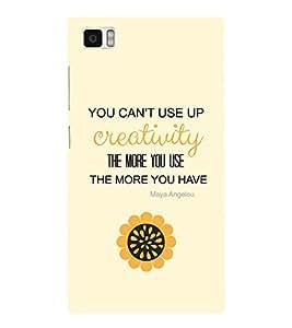 EPICCASE creative quotes Mobile Back Case Cover For Xiaomi Mi3 (Designer Case)