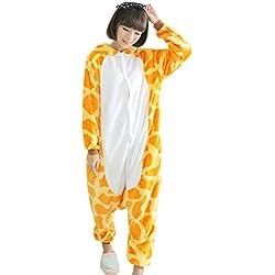 EOZY Pijamas/Disfraz De Animales Para Mujer Hombre Adulto - Franela Jirafa,S