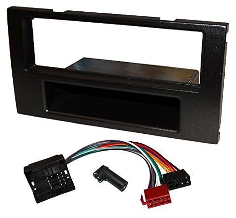 AERZETIX: Kit adaptateurs autoradio cadre 1DIN câble faisceaux pour auto voiture