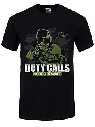 Duty Calls : Noobs Beware Tee-Shirt Homme