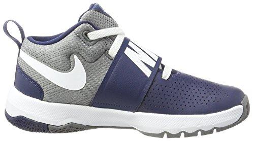 Zapatillas De 8 Blanco Nike Azul Gs Fresco Equipo Niña Ajetreo Baloncesto medianoche Gris Azul D Marino w8q08g4