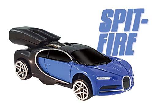 Whistle Racer WR6JBC2 Spuckfeuerzeug Auto blau - Schwungrad-auto