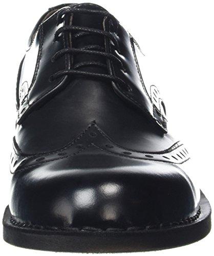 Fly London Idal903fly, Zapatos Bajos Brogue Para Hombre Negro (negro 000)