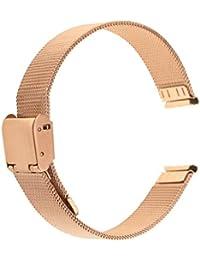 Sharplace Correa para Reloj, Acero Inoxidable Patrón Malla, 14 mm / 16 mm /