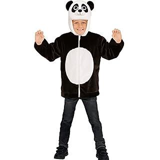 all4yourparty Sweatjacke Panda Plüsch Kinder Pluesch Jacke mit Kapuze Jumper Hoody Weste Teddy, Größe:113