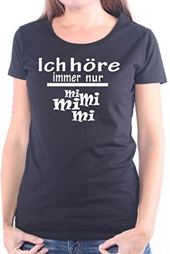 Mister Merchandise Ladies Damen Frauen T-Shirt Ich Höre Immer Nur - MI MI MI Tee Mädchen Bedruckt Schwarz, M (T-shirt Womens Dunklen Lustig)