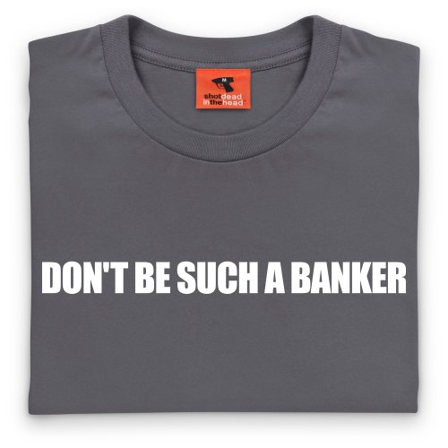 Square Mile Such a Banker T-Shirt, Herren Anthrazit