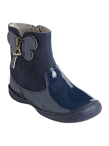 3bf1f378e2800 Vertbaudet Boots Cuir Fille Collection Maternelle Marine 23