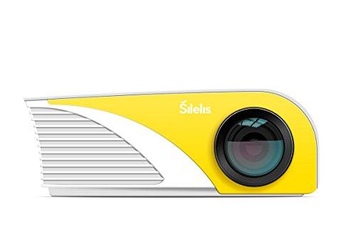Silelis P-2 1200 Lumen 1080P Home LED Projector Multimedia HDMI USB VGA