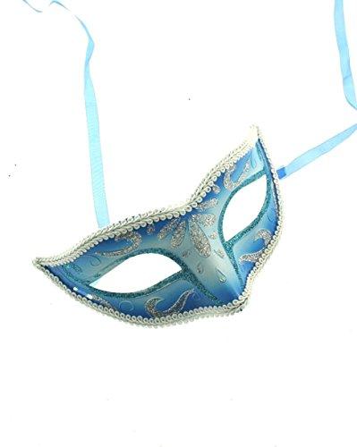 Dress Kostüm Fancy Glitter Ball - Zac's Alter Ego® Classic zwei Ton Glitzer venezianischen Stil Maske ideal für Halloween/Kostüm Partys