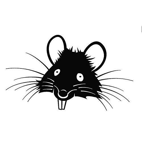 Pegatina Promotion Süße Ratte Silhouette Tier Sport Decal Animal ca 20cm Aufkleber Autoaufkleber Wandtattoo Sticker