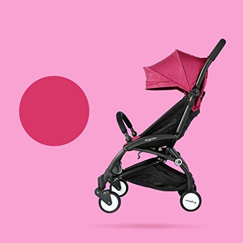 &Baby Kinderwagen Kinderwagen ultraleichter Kinderwagen Buggy sitzt oder auf dem Flugzeug Klapp tragbaren Regenschirm ruht