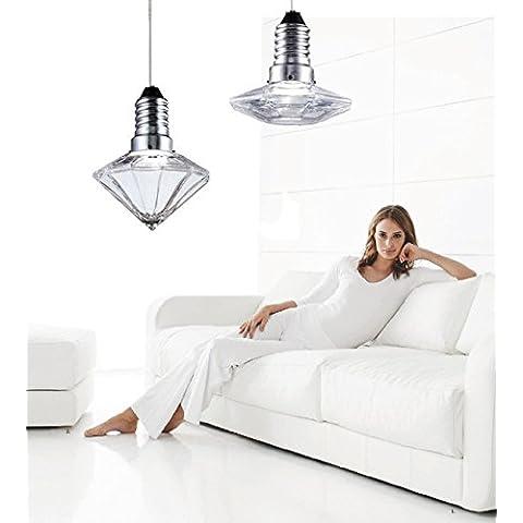 WEIAN Sospensione moderna ed elegante lampadario & Clear gioiello perline
