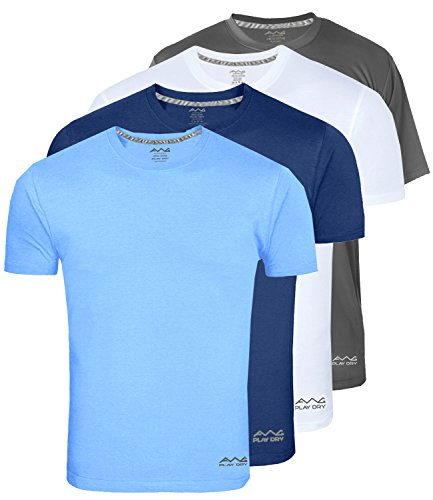 AWG – All Weather Gear Men's Polyester Dry Fit Round Neck T-Shirt – Pack of 4
