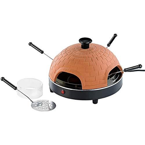 Monsterzeug Pizza Raclette, Mini Ofen, Steinofen für Küche, Pfännchen, Tischgrill
