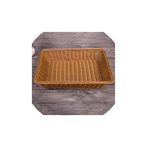 Handgemachte Willow Woven Brot Speicher-Korb Rattan Obst Container Makeup Organizer Woven Storage Baskets Körbe, Br, L -