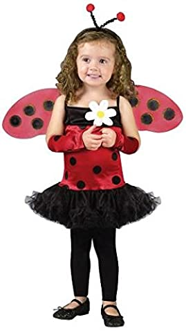 Fun World FW120071-S Toddler Lovely Ladybug Costume SMALL