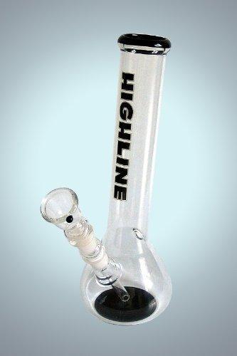 Preisvergleich Produktbild 30cm Highline Gebogene Kolben Bong Tabakpfeife
