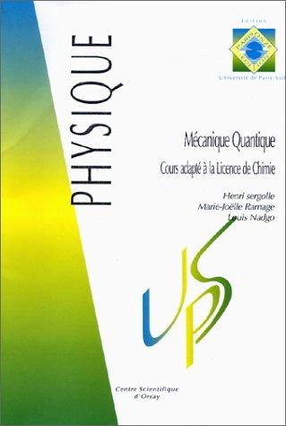 Cours de mécanique quantique, cours de la licence de chimie, Université Paris-Sud XI