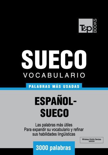 Vocabulario español-sueco - 3000 palabras más usadas (Spanish Edition)