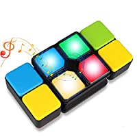 Anzmtosn Toys For 4-12 Year Old Kids,Musical Magic Cube Block Matching Color Rainbow Puzzle Game Cube Fun Educational Electronic Music Speed Cube Memory Maze Game Best Christmas Birthday Xmas Gifts