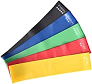 5PCS/Set Resistance Band fitness 6Levels Latex Gym Strength Training Rubber Loops Bands Fitness CrossFit Equip