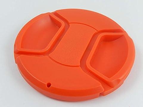 vhbw Objektiv Deckel 72mm Innengriff Snap on Rot für Kamera Objektiv Pentax HD DA 16-85 mm F3, 5-5, 6 ED DC WR