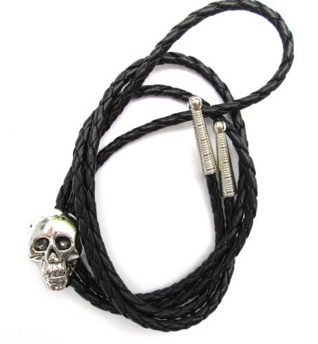 Dangerous Threads Western-Bolo-Krawatte mit Totenkopf-Ornament, Antik-Finish