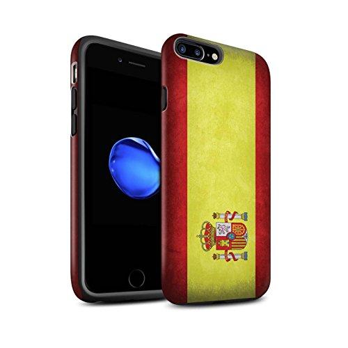 STUFF4 Matte Harten Stoßfest Hülle / Case für Apple iPhone 6 / Albanien/Albanisch Muster / Flagge Kollektion Spanien/Spanische