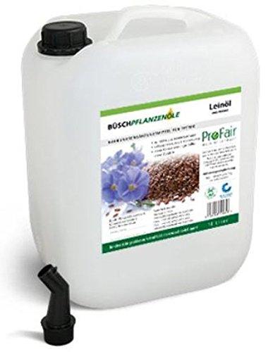 ProFair 10litros aceite de linaza kaltgepresst, 100% de puro Lienzo Semillas–sin aditivos,...