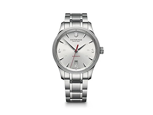 Victorinox Swiss Army Unisex Automatic Watch with Black Dial Analogue Display Stainless Steel 241715.1