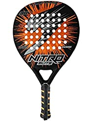 Slazenger Nitro Elite - Pala, color negro / naranja, 38 mm