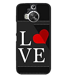PrintVisa Designer Back Case Cover for HTC One M9 Plus :: HTC One M9+ :: HTC One M9+ Supreme Camera (Love In Black Background)