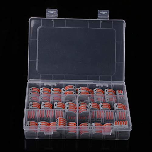 YoungerY (60 pcs Attache de câble connecteur épissage Compact