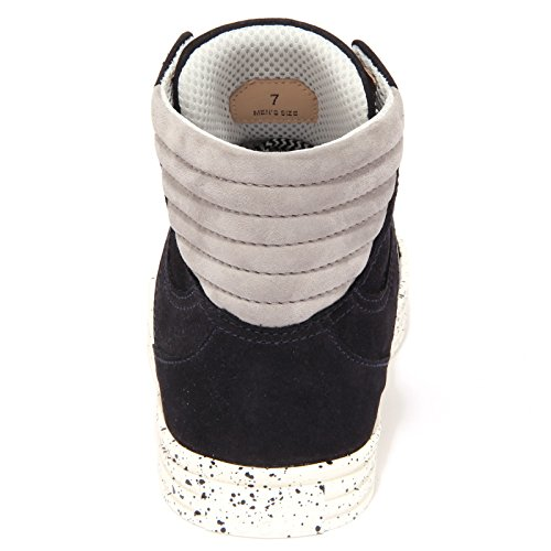 1632Q sneaker uomo HOGAN REBEL blu/grigio scarpa shoe men Blu/Grigio