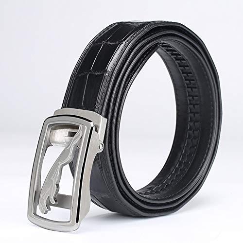 VIWIV Fashion Business Gürtel Leder mit automatischer Schnalle Herren Gürtel Krokodil Belt Mann Temperament,2,110cm