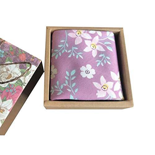 Chinashow Womens/Girls Vintage Floral Print Baumwolle Taschentücher Floral Taschentuch mit Geschenkbox A15