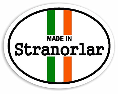 Preisvergleich Produktbild Made In Stranorlar - Ireland Flag Auto Aufkleber / Sticker For Car Bike Van Camper Decal Bumper Irish Sign