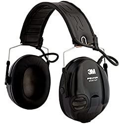 3M PELTOR SportTac Headset, 26 dB, tasses bandeau pliable, MT16H210F-478-RD, rouge / noir
