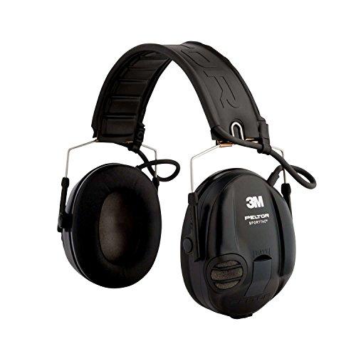 3M Peltor MT16H210F-478-GN Sporttac Cuffie - Nero/Rosso, Sporttac - Funzione dipendente dal livello uniforme, protegge l'utente da improvvisi rumori impulsivi forti - Pieghevole Fascia per Facile Contenitore - La confezione include un paio di protezi...